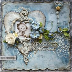Video tutorial on how to create a mixed media scrapbook page by Gabrielle Pollacco, using Lindy's sprays, stencils, texture paste, stamps and scrapbook embel...