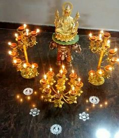 Diy Diwali Decorations, Ribbon Decorations, Festival Decorations, Ethnic Home Decor, Indian Home Decor, Diwali Diy, Diwali Rangoli, Silver Pooja Items, Pooja Room Door Design