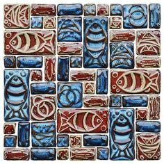Hand Craft Porcelain Ceramic Mosaic Tile Bathroom Mosaic Tiles PCMT061 craftsman-tile