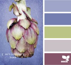 artichoke hues- picked out the second from the top color(bridesmaid dress color) and then the website populated the rest of the colors! perfect for our vineyard wedding!