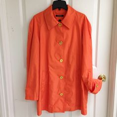 SALERalph Lauren Spring/Summer Coat Lovely coat in a coral orange color. Beautiful gold buttons. Fully lined Ralph Lauren Jackets & Coats