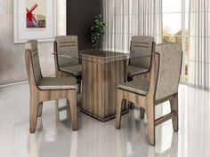Conjunto de Mesa com 4 Cadeiras Movale - Amsterdam