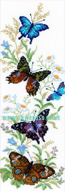 Flying Butterflies Cross Stitch Kit
