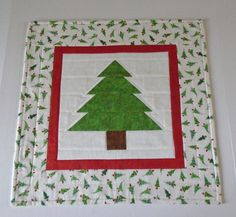 Christmas Tree Quilted Table Topper, Winter Christmas Quilted Table Runner, Christmas Table Quilt, Christmas Tree, Christmas Decor by ForgetMeNotQuilteds on Etsy