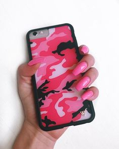 "Wildflower Cases on Instagram: ""PINK CAMO!! IN STOCK for iPhone 6/7 and iPhone 6+/7+ WILDFLOWERCASES.COM SHOP the link in our bio or SHOP our instastory *COMING SOON…"" • Instagram #iphoneaccessories,"
