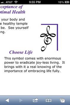 Zibu symbol-choose life.