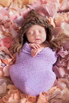 Little Bonnete Knit Baby Hat Knit Photo Prop by FashionTouch, $25.00