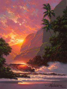 A Different Drummer: Roy Gonzalez Tabora: Hawaiian Seascape Painter