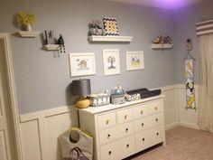 yellow and grey nursery | Wesley's Yellow and Gray Elephant Nursery