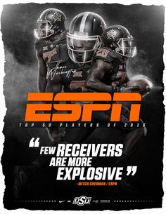 Oklahoma State Sports Advertising, Sports Marketing, Sport Inspiration, Graphic Design Inspiration, Sports Art, Sports Logo, Football Program, College Football, Football Design