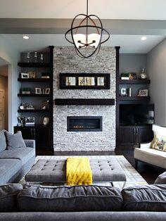 Living Room Images Grey Unique Table Grey Soft Sofa White Carpet Black Bookshelf Black Floor With Modern Hang Lamp Amazing Decoration 2016