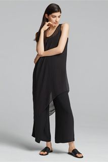 EILEEN FISHER Spring Icons Collection: Asymmetrical Dress + Wrap Pant
