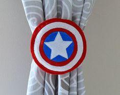2 Rideau nouer dos super héros embrasses américain Captain