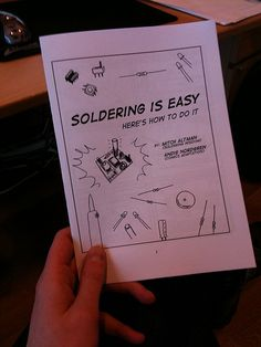 Soldering is Easy: A Comic Book (Free Download) » Man Made DIY | Crafts for Men « Keywords: solder, soldering, electronics, wire