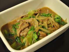 豚肉ごぼうミニ青梗菜の炒めもの