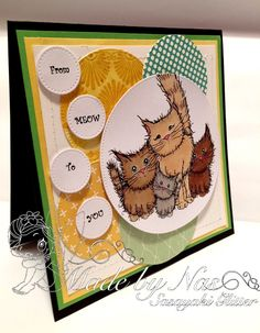 PolkaDoodles Woof You Stamp Set   or   Meow You Doing Stamps    Cat   Dog