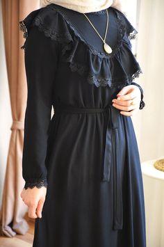 Prenses Model Siyah Elbise - Eminos Butik