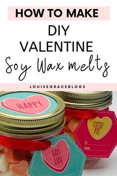 Homemade Gifts, Diy Gifts, Christmas Jar Gifts, Soy Wax Flakes, Soy Candle Making, Wax Tarts, Diy Valentine, Candlemaking, Mason Jar Gifts