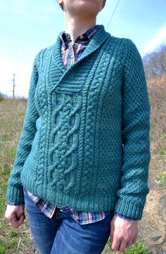 Fargo, a cable and shawl collar pullover. I love aran sweaters.