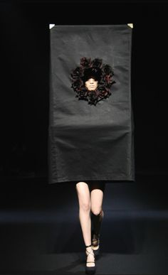 Boxed in... wearable sculpture; fashion meets art; dress form with 3D box construct // Christian Dada
