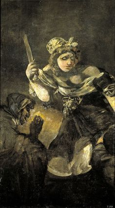 Francisco Goya, Quinta del Sordo, Black Paintings, Judith and Holofernes, 1819-23, oil mural transferred to canvas, 143.5 x 81.4 cm, Museo del Prado, Madrid.