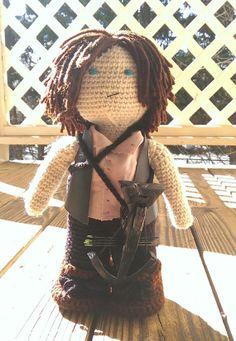 Daryl Dixon doll The Walking Dead crochet by fourcrazymonkeys, $75.00