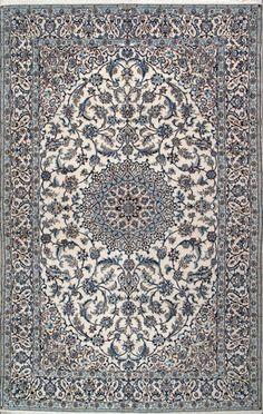 """Nain Persian Rug, Buy Handmade Nain Persian Rug 6' 7"""" x 9' 10"""", Authentic Persian Rug"""