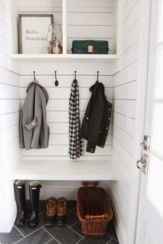 Shiplap for Entryway! NICE!