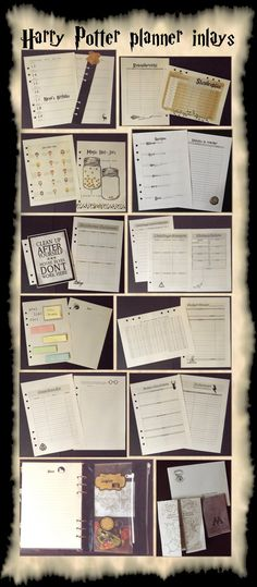 See how to DIY on my blog - Filofaxing - Harry Potter Planer / Organizer / Kalender - planner love organiser Hogwarts  | the blossom's place