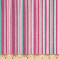 Riley Blake Lovey Dovey Stripes Pink
