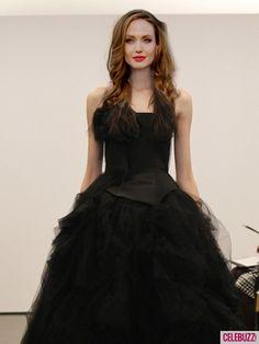 Angelina Jolie Photos - Angelina Jolie 'Wearing' Black Wedding Gowns - 1 - Celebuzz