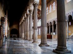 Santa Sabina, one of the best preserved churches in Rome.