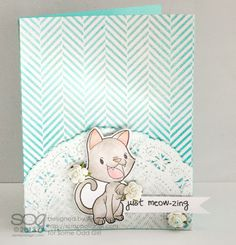 Ombre card using @Some Odd Girl stamps