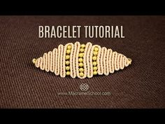 YouTube tutorial video shows you how to make this vintage Snaky Rhomb or eye bracelet in no time.It's easier than it looks.