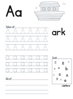 Grade R Worksheets Free Printable Teachers Grade R Worksheets, Alphabet Worksheets, Worksheets For Kids, Printable Alphabet Letters, Alphabet For Kids, Afrikaans Language, Music Lessons For Kids, Piano Lessons, Preschool Learning Activities