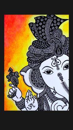 Mandala Art Lesson, Mandala Artwork, Mandala Painting, Easy Mandala Drawing, Mandala Sketch, Doodle Art Drawing, Zentangle Drawings, Doodling Art, Ganesha Art