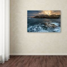 """Trademark Art """"The Lighthouse"""" by Mathieu Rivrin Photographic Print on Wrapped Canvas & Reviews 