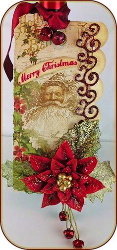 Father Christmas with Jingle Bells Tag