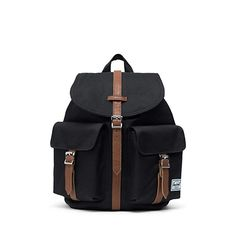 Herschel Black Dawson - 13 Litre Womens Backpack for sale online Computer Backpack, Small Backpack, Black Backpack, Backpack Bags, Fashion Backpack, Pretty Backpacks, Women's Backpacks, Herschel Rucksack, Men's Apparel