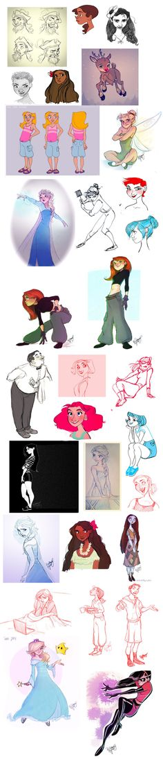 Oodles of Doodles 9 by Britt315.deviantart.com on @deviantART   I LOVE THE ELSA ONES SO MUCH WHY HAVE I NOT SEEN THESE