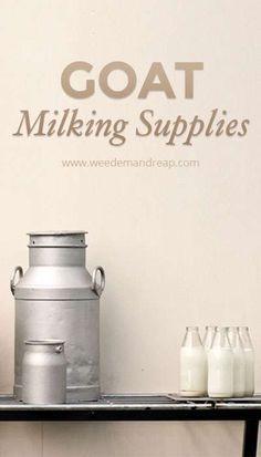 Goat Milking Supplies