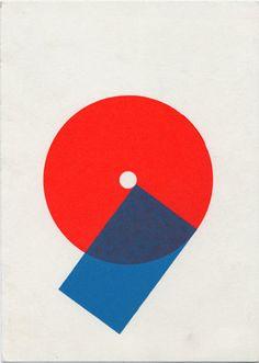Two forces meet \ Red \ Blue \ Karel Martens