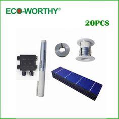 20pcs Poly Solar Cell 156x39mm Polycrystalline Solar Cells Kits High Quality for DIY 20W Solar Panel
