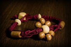 Hemp bracelet w/wood beads. SOLD  Email me for more info: dkwilson68@hotmail.com