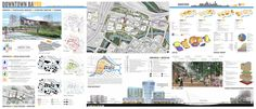 "University of Colorado/Harvard University: ""Downtown Bayou"" - 2012 Winner Landscape Concept, Urban Landscape, Landscape Design, Space Architecture, Residential Architecture, Architecture Presentation Board, Presentation Boards, Urban Design Diagram, Site Plans"