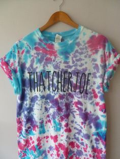 NEW Tie Dye Joe Sugg Thatcherjoe t shirt, youtube vlogger fangirl tumbler #banterboutique #Graphic