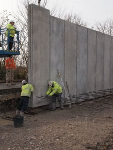 Precast Concrete 280mm Thick Superwall Panels Precast Concrete Panels Prefab Walls