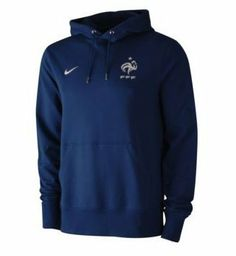 France Navy Hoodie 2012/13 by Nike. $52.52. The France Blue Hoodie is a brand new design from Nike and will be worn by Malouda and Evra as part of the 2012/13 Training and Presentation wear range. It is a stylish new design and is made from 100% Cotton. The Hoody is Blue in colour with a large front pocket. There is a France crest on the front alongside a printed Nike logo. This France Blue Hoodie is an official product manufactured by Nike under licence for the team and make...
