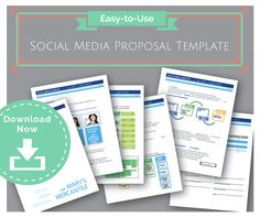 Downloadable Social Media Proposal Template