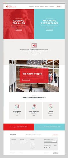 web design inspiration red & blue #webdesign #layout